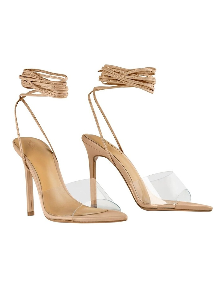 Mistique Clear Vinylite/Skin Capretto Heels image 2