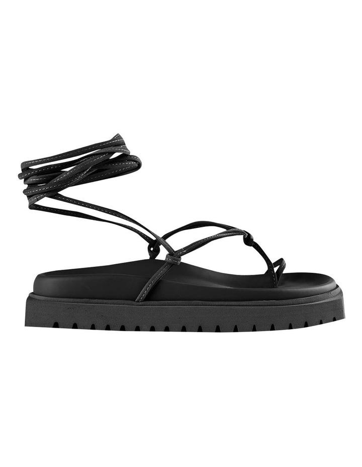 Tilli Black Kid Suede Sandals image 1