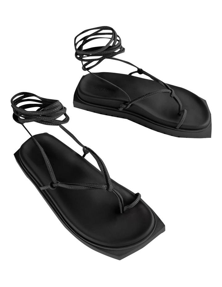 Tilli Black Kid Suede Sandals image 2