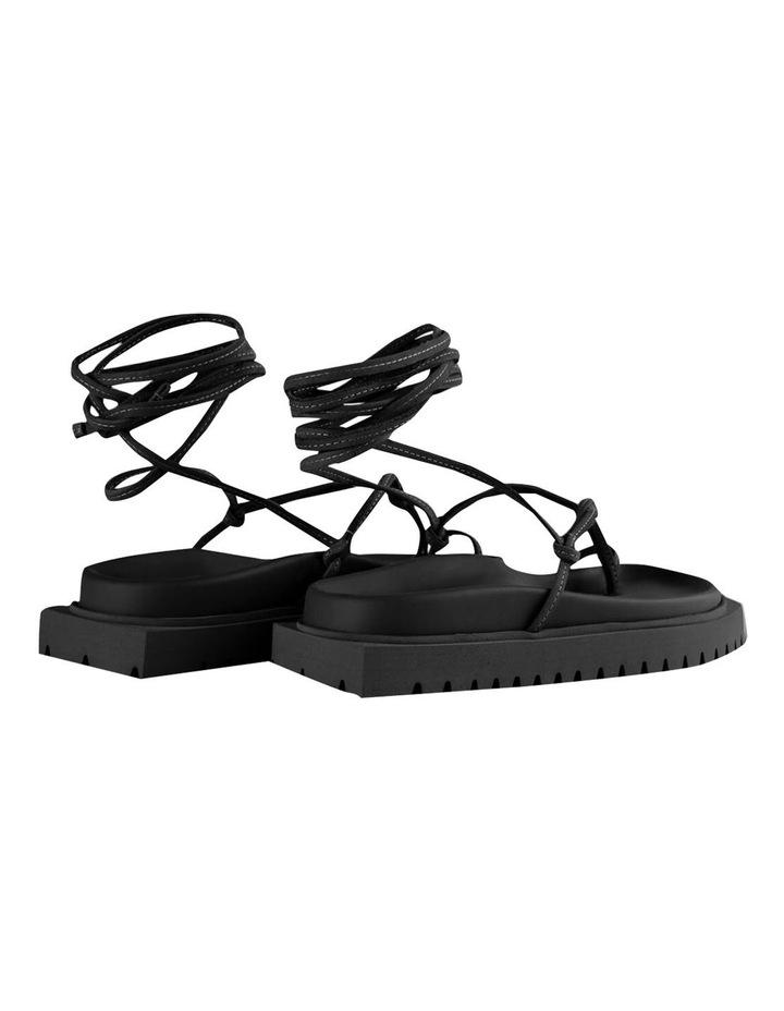Tilli Black Kid Suede Sandals image 4