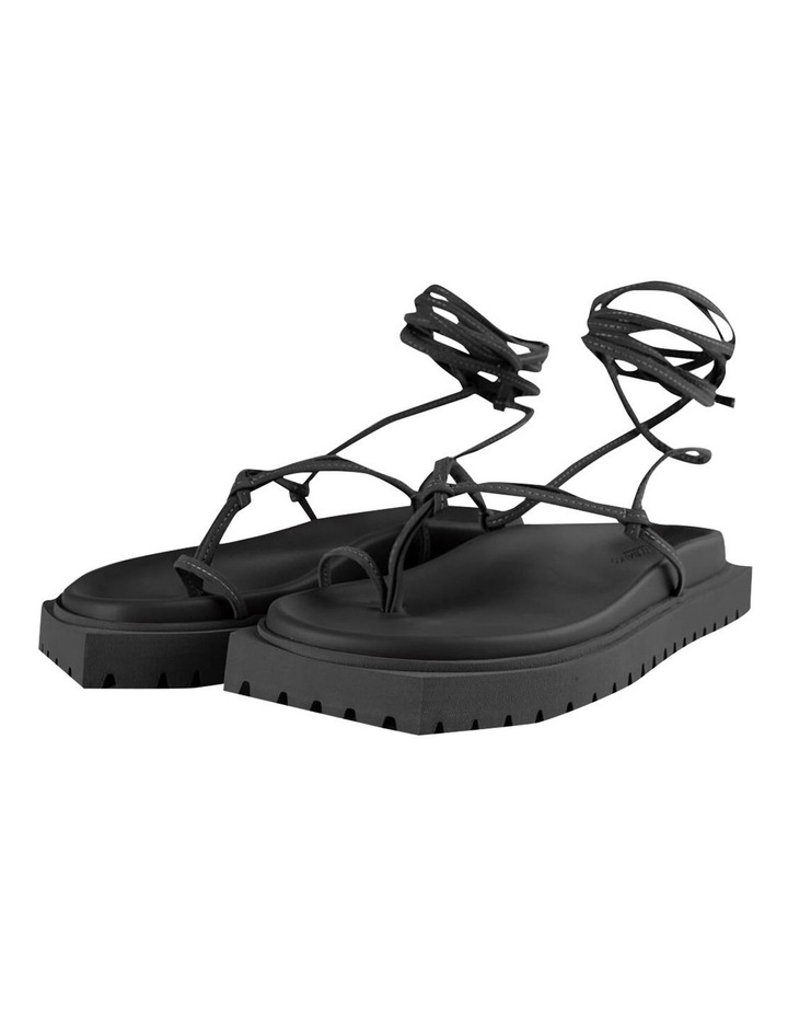 Tilli Black Kid Suede Sandals image 6