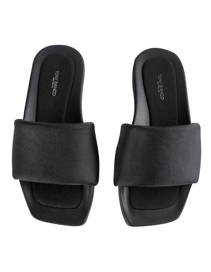 York Black Mesh Sandals image 6
