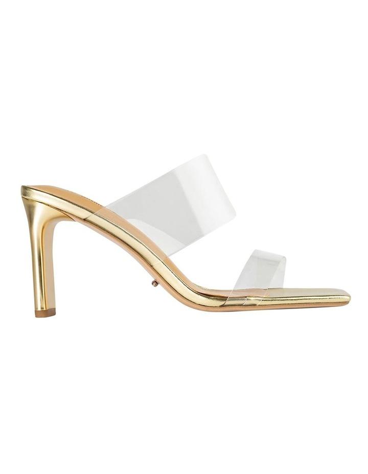 Chicago Clear Vinylite/Gold Heels Heels image 1