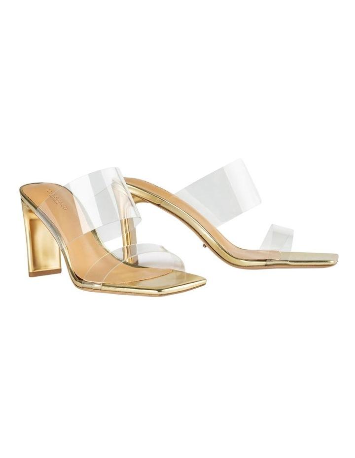 Chicago Clear Vinylite/Gold Heels Heels image 2