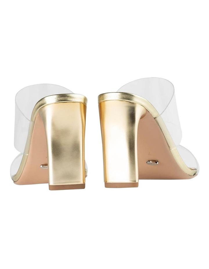 Chicago Clear Vinylite/Gold Heels Heels image 3