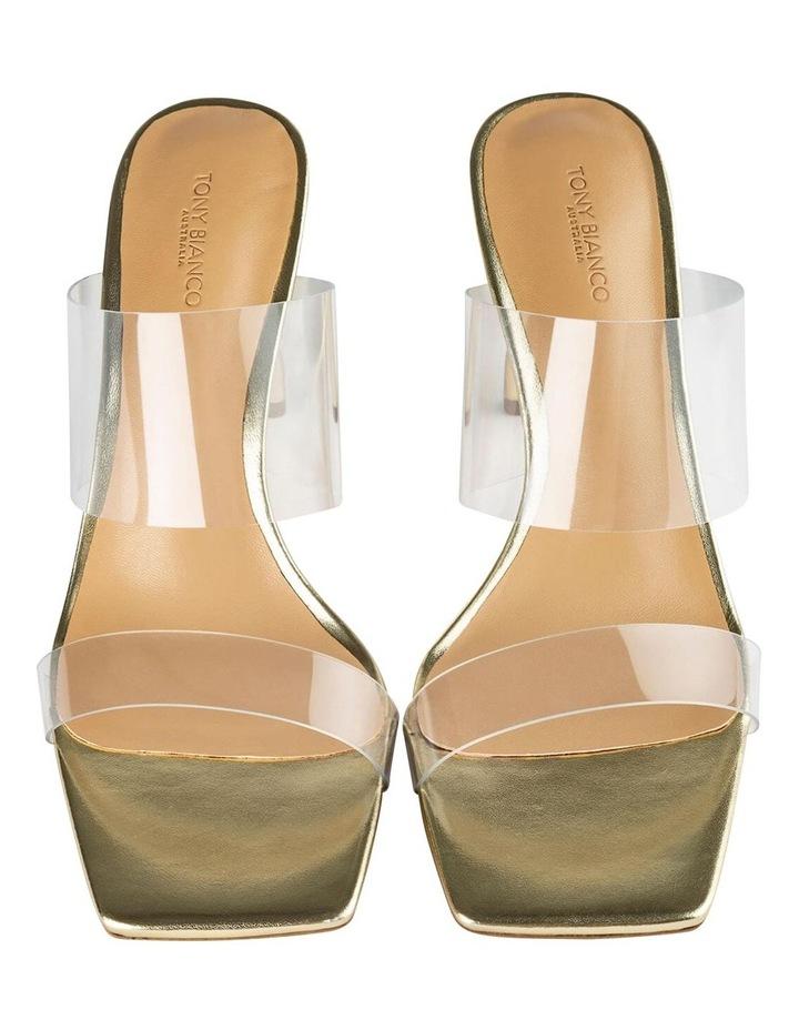Chicago Clear Vinylite/Gold Heels Heels image 6