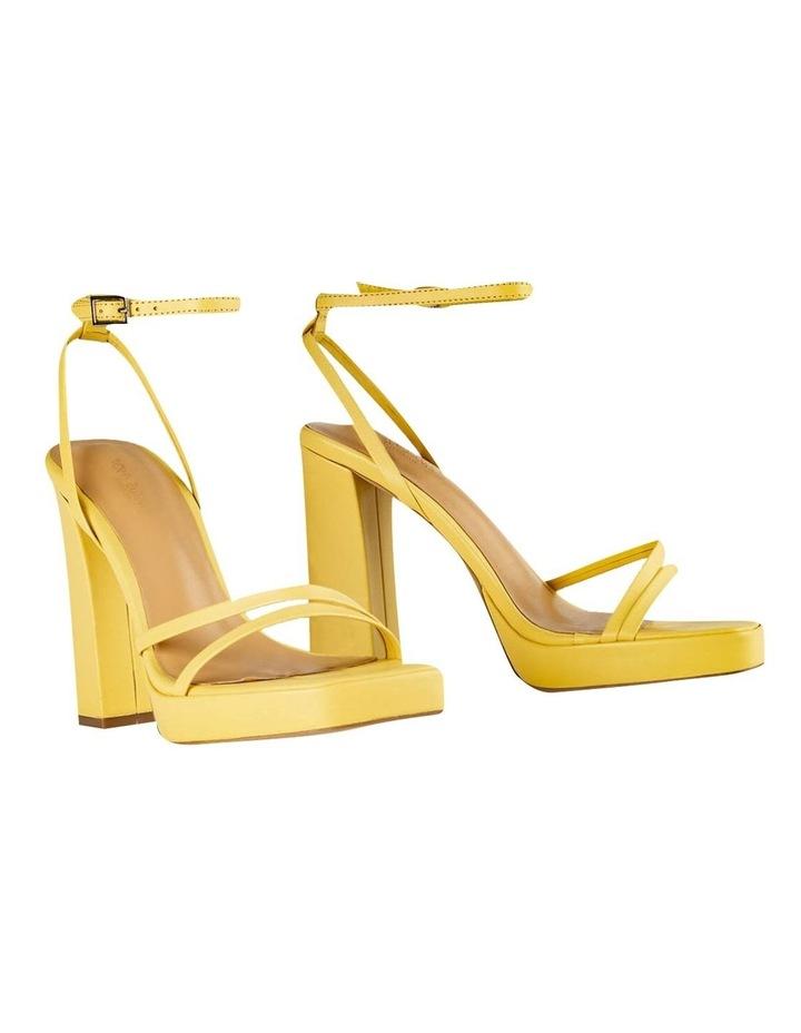 Detroit Yellow Nappa Heels image 2