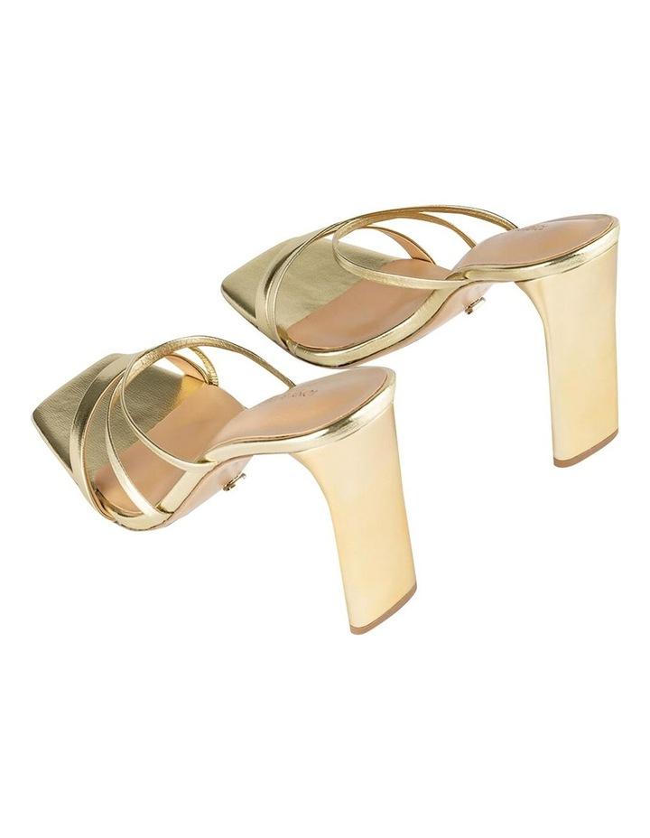 Fior Gold Nappa Metallic Heels image 4