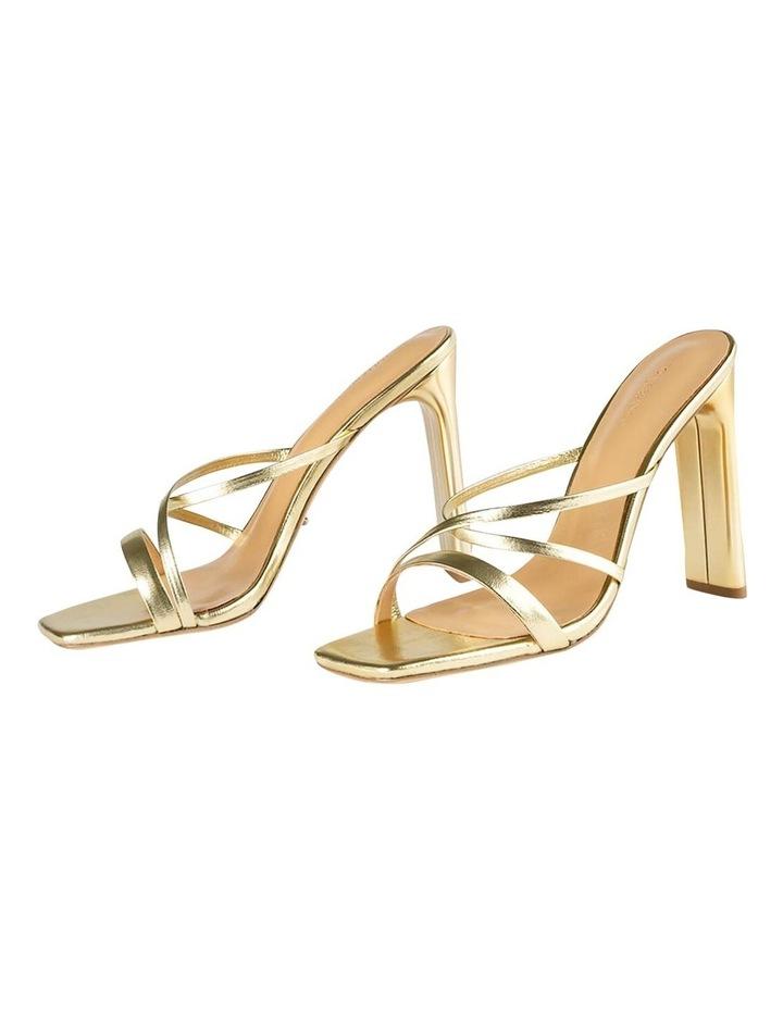 Fior Gold Nappa Metallic Heels image 5