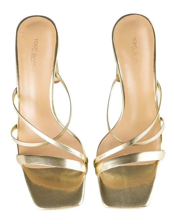 Fior Gold Nappa Metallic Heels image 6