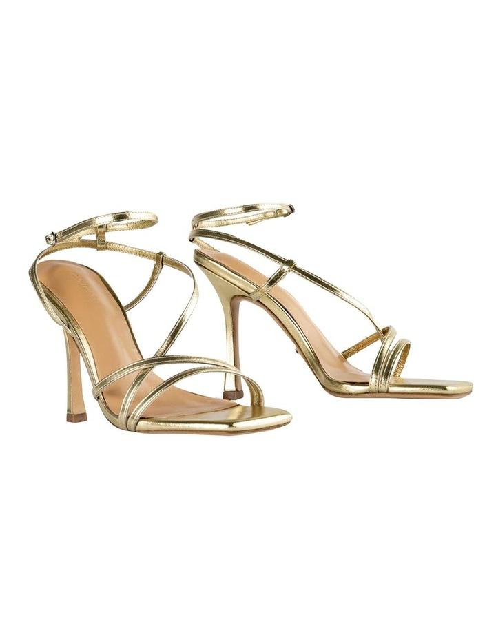 Franci Gold Nappa Metallic Heels image 2