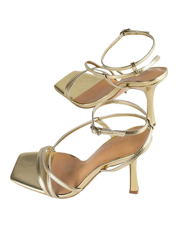 Franci Gold Nappa Metallic Heels image 4