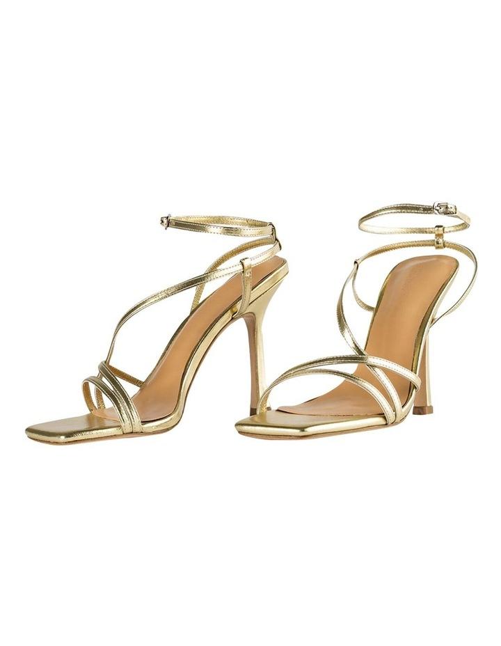 Franci Gold Nappa Metallic Heels image 5