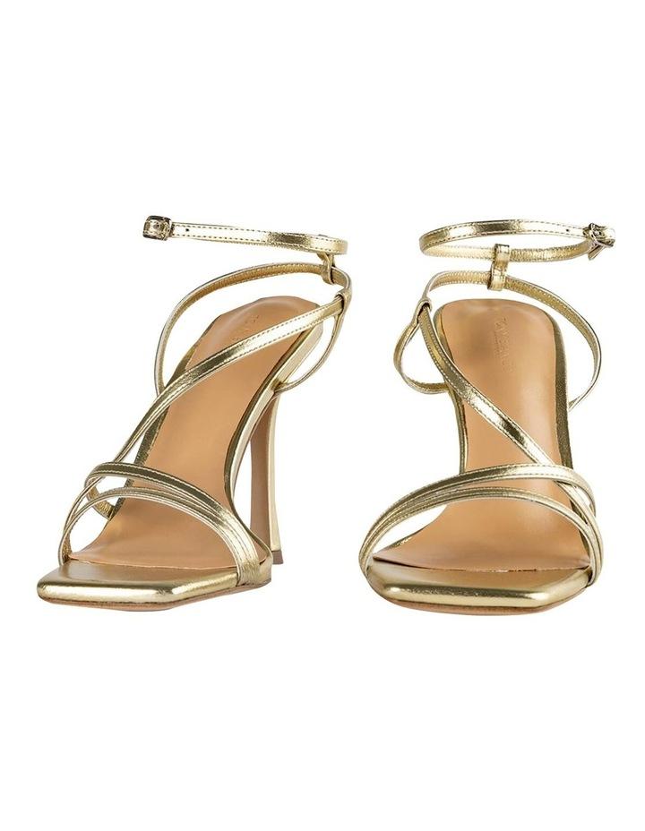 Franci Gold Nappa Metallic Heels image 6