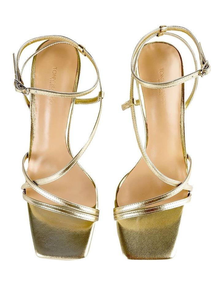 Franci Gold Nappa Metallic Heels image 7