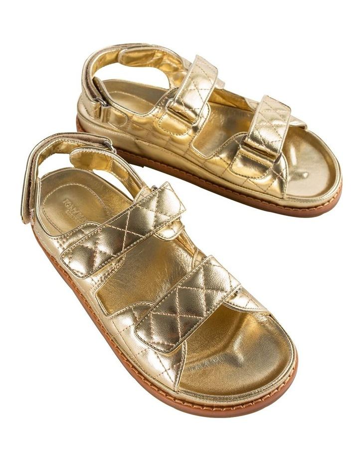 Hiranni Gold Nappa Sandals image 2