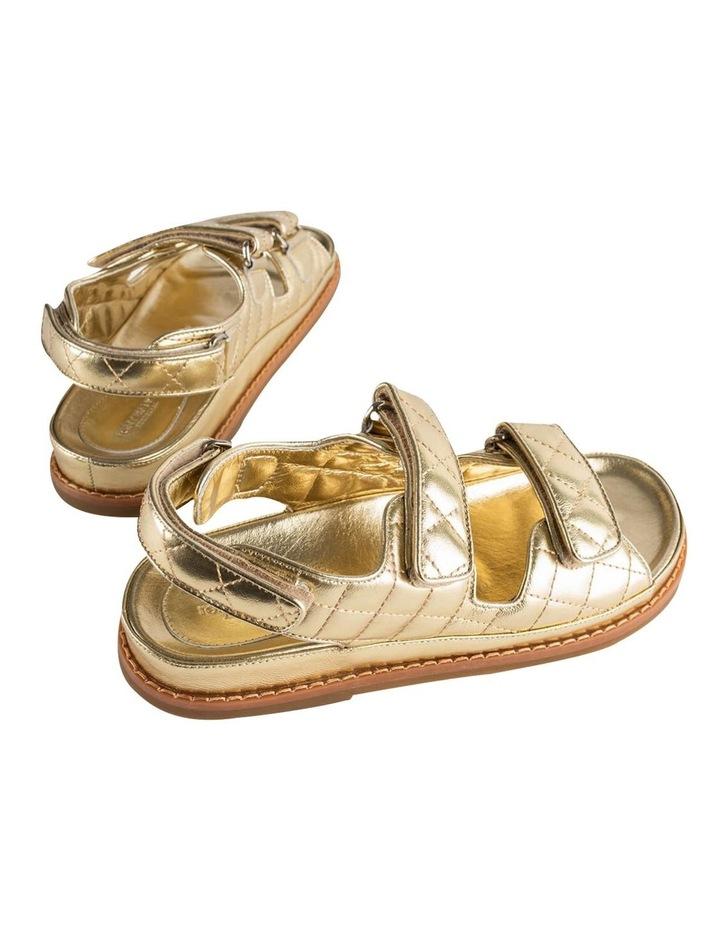 Hiranni Gold Nappa Sandals image 3