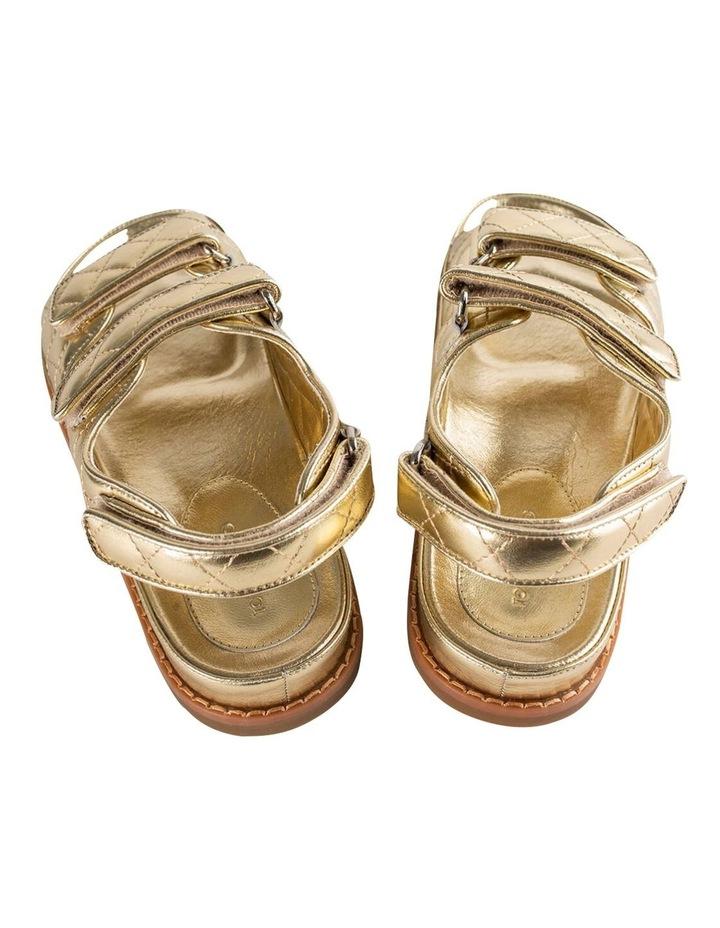 Hiranni Gold Nappa Sandals image 4