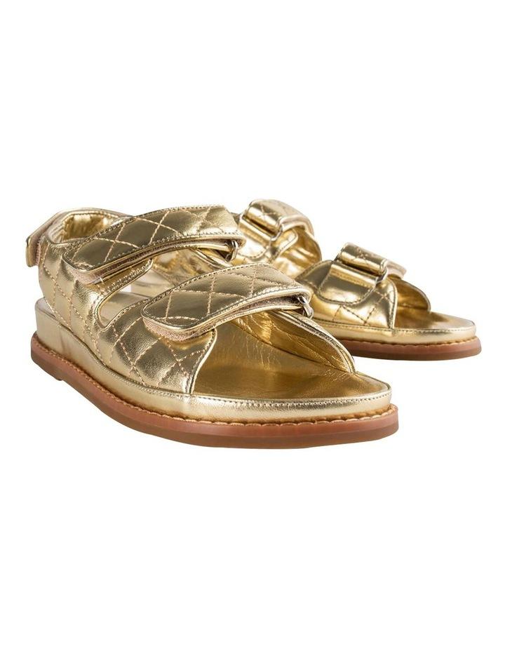 Hiranni Gold Nappa Sandals image 5
