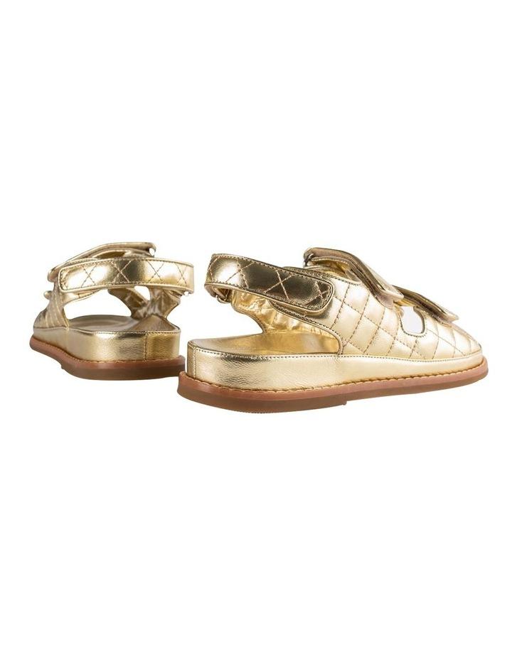 Hiranni Gold Nappa Sandals image 6