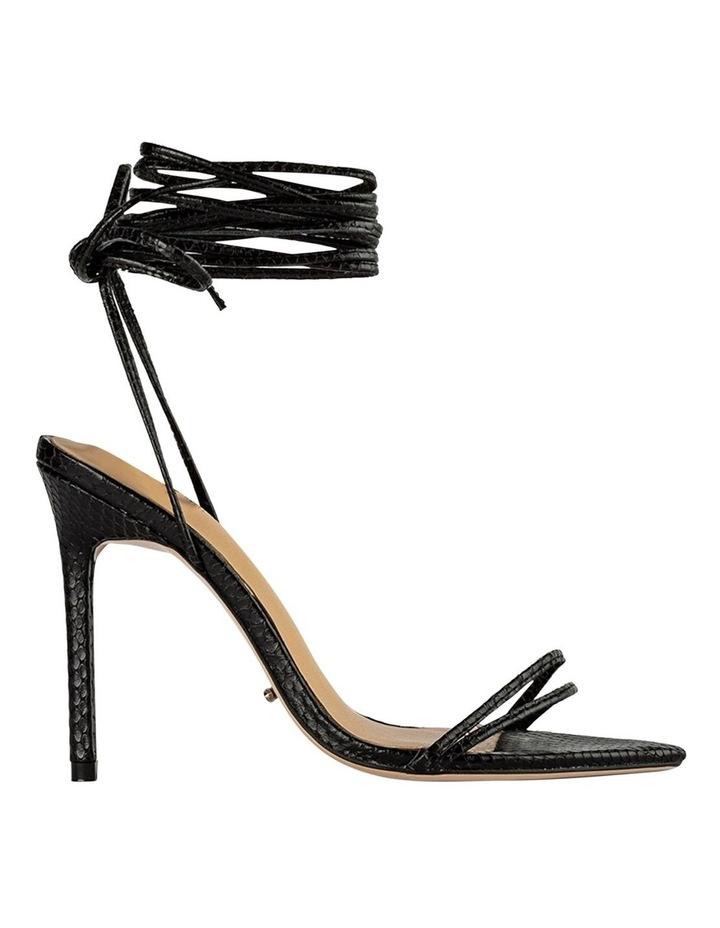 Millie Black Snake Heels image 1