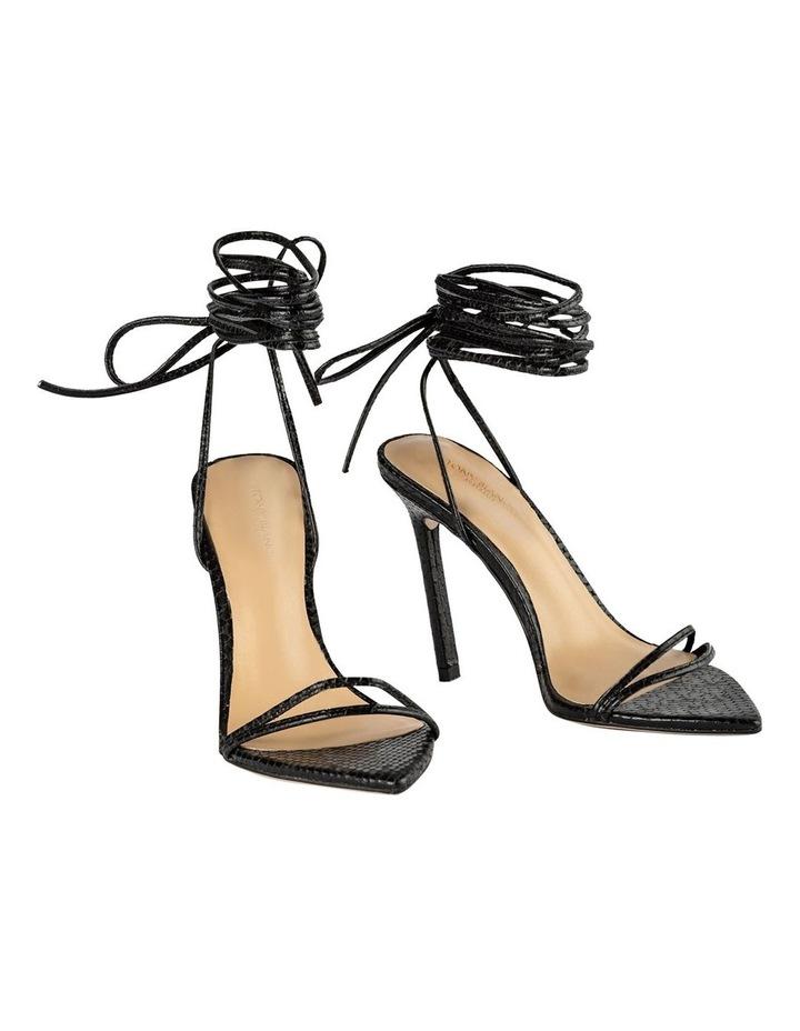 Millie Black Snake Heels image 2