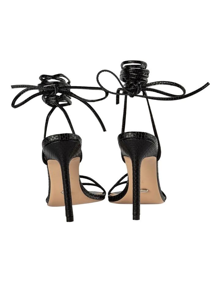 Millie Black Snake Heels image 3