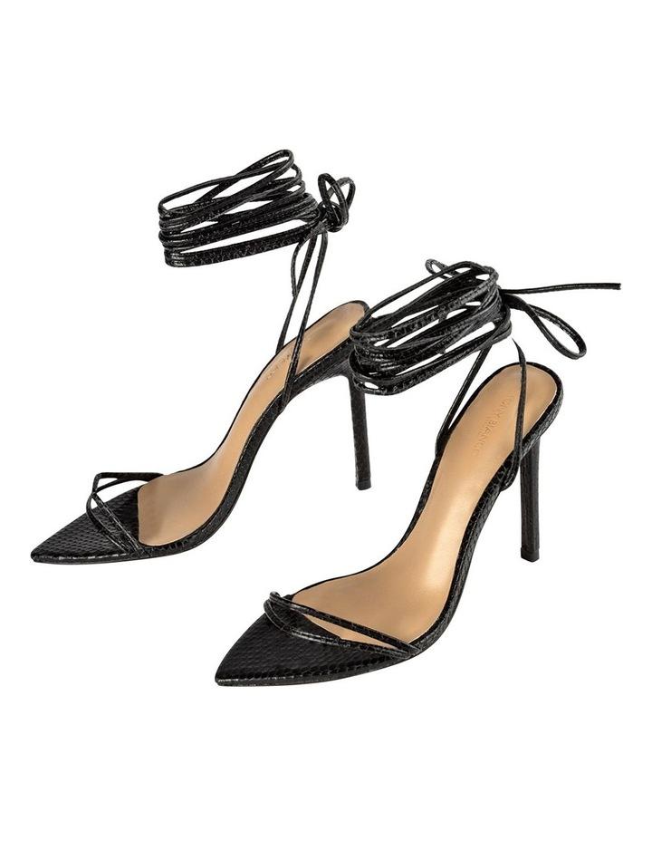 Millie Black Snake Heels image 4