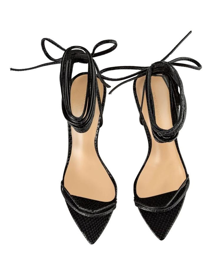 Millie Black Snake Heels image 5