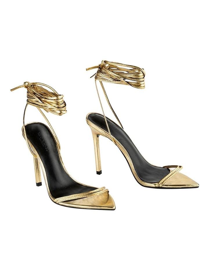 Millie Gold Foil Heels image 1