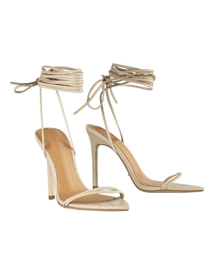 Millie Vanilla Snake Heels image 1