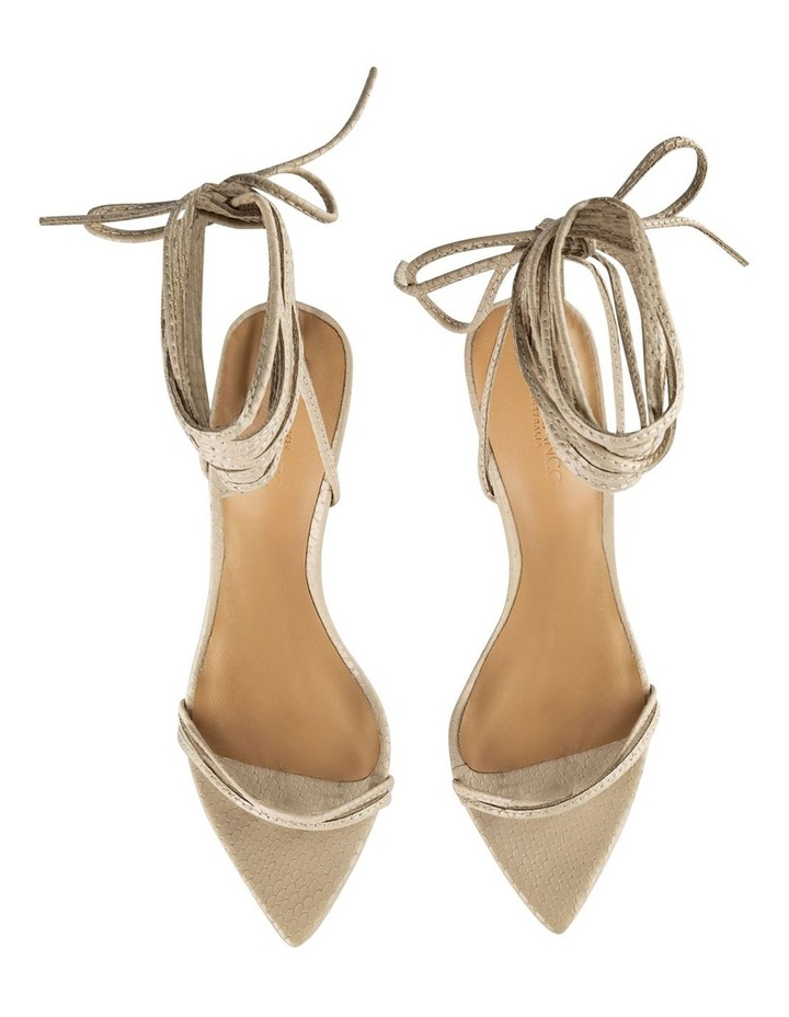 Millie Vanilla Snake Heels image 5