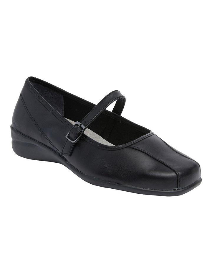 Brianna Black Glove Flat Shoes image 2
