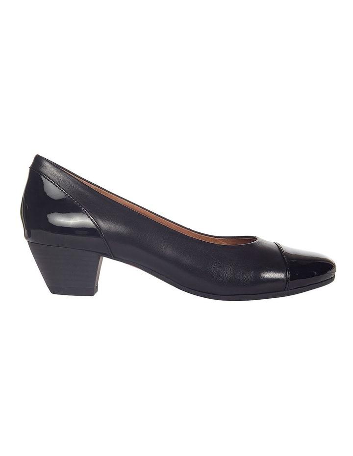 Acton Black Patent/Kid Heeled Shoes image 1