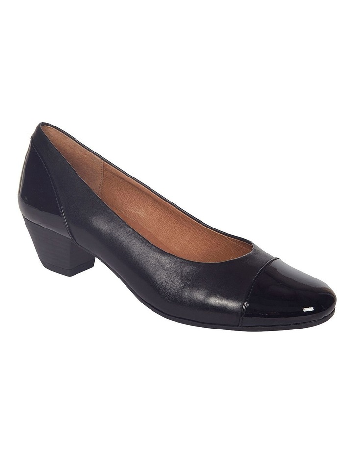 Acton Black Patent/Kid Heeled Shoes image 2