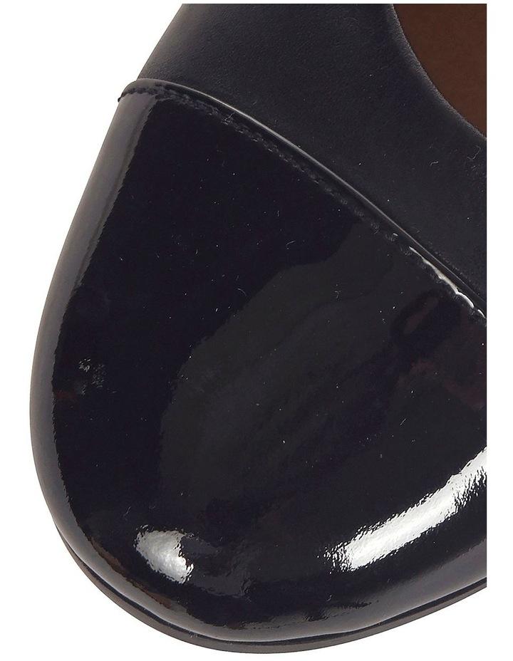 Acton Black Patent/Kid Heeled Shoes image 5