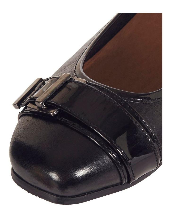 Napier Black Glove / Patent Heeled Shoes image 5