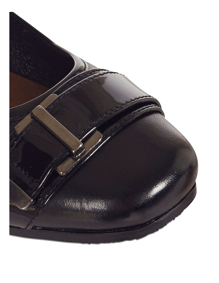 Napier Black Glove / Patent Heeled Shoes image 6