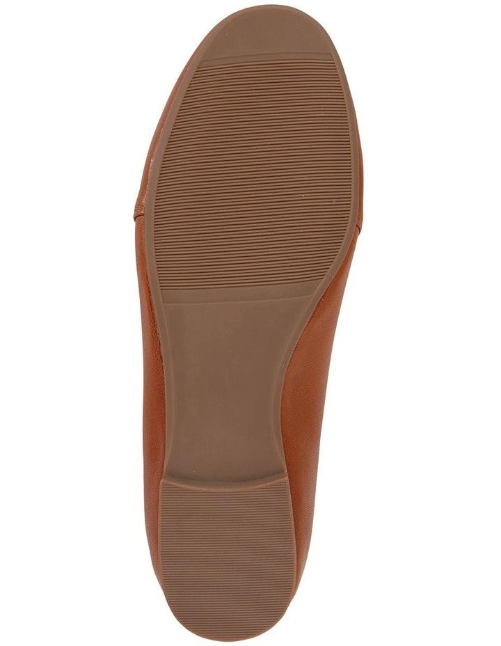 Castle Cognac Glove Flat Shoes image 6