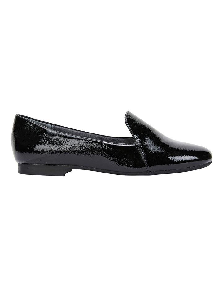 Castle Black Crinkle Patent Flat Shoes image 1