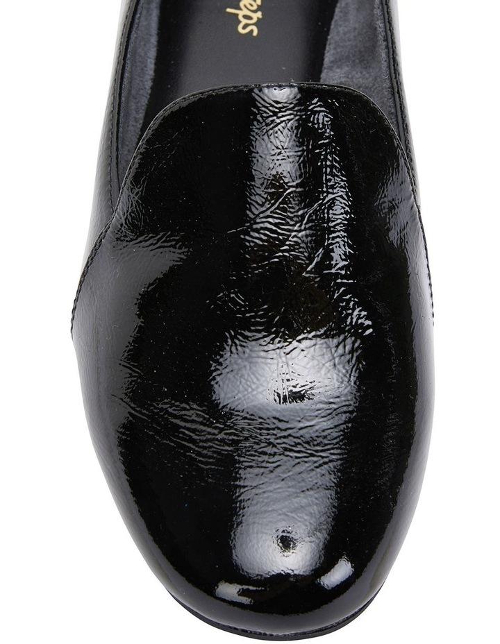 Castle Black Crinkle Patent Flat Shoes image 7