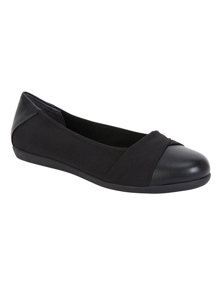 Fenton Black Glove/Fabric Flat Shoes image 2