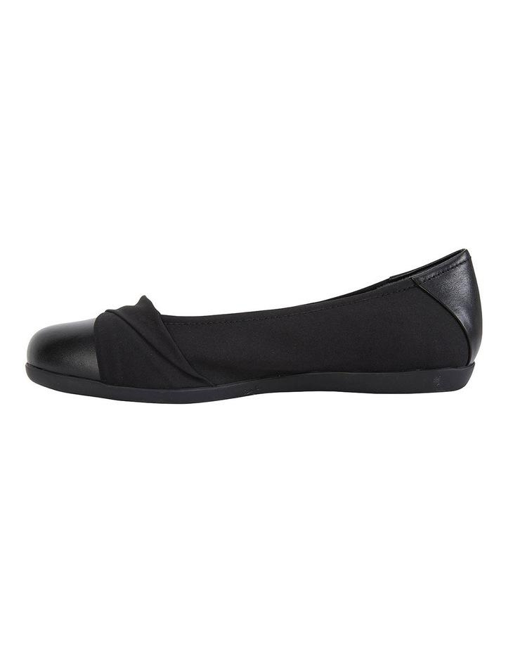 Fenton Black Glove/Fabric Flat Shoes image 3