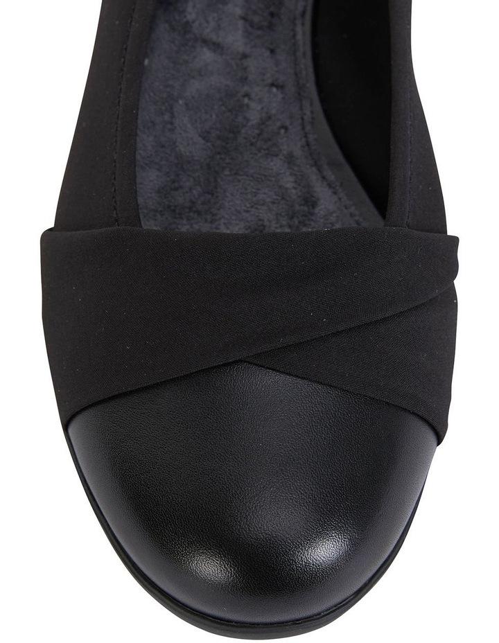 Fenton Black Glove/Fabric Flat Shoes image 7