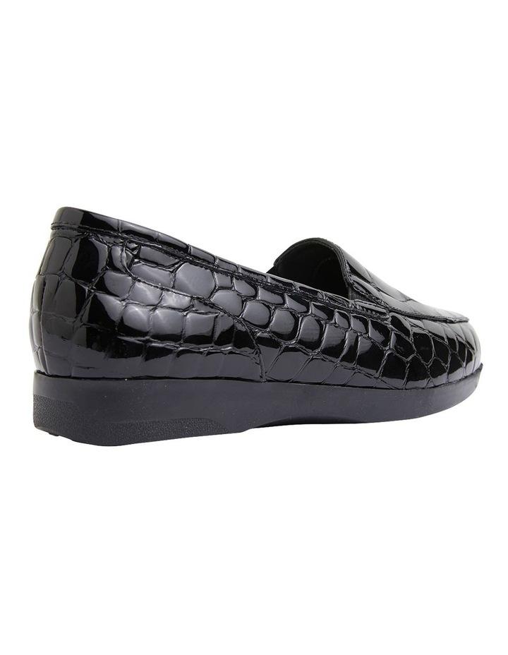 Verse Black Patent Croc Flat Shoes image 4