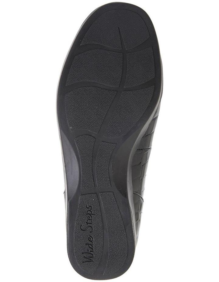 Verse Black Patent Croc Flat Shoes image 6