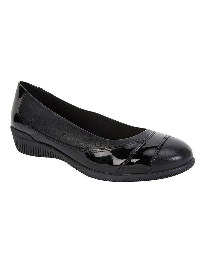 Virgo Black Glove / Patent Flat Shoes image 2