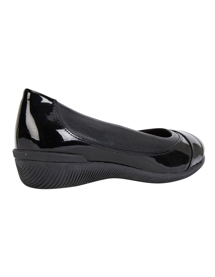 Virgo Black Glove / Patent Flat Shoes image 4