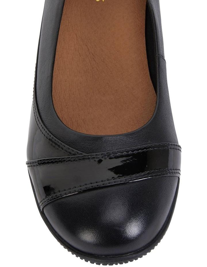 Virgo Black Glove / Patent Flat Shoes image 7
