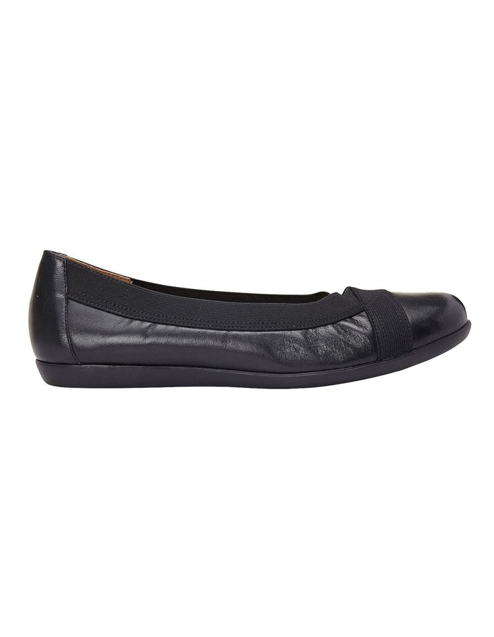 Amanda Black Glove/Elastic Flat Shoes image 1